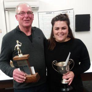 Ian Milne and Alicia Rangi 2018 Club Champions